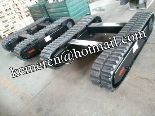 rubber track undercarriage track system