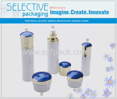 120ml white glass bottle aluminum pump aluminum cap