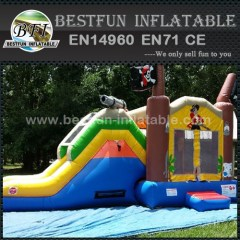 Pirate Ship Inflatable Slide Dry Bouncer Combo