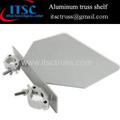 Aluminum truss shelf for convenient deck in events trusses
