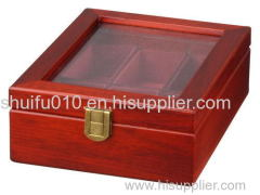 Cherry Wood Watch Box with Glass Display