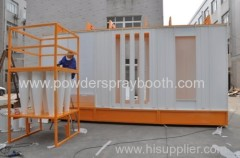 powder painting multi-cyclone booth for cleaning and recycle