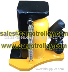 Lower toe jack details with price list