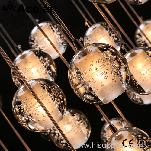 LED Bubble crystal ball chandelier American restaurant chandeliers chandeliers meteor shower