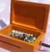 Make Your Own Songs Wooden Crank Operated Music Box