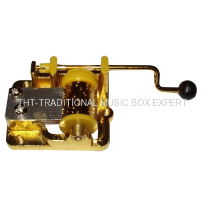 HAND CRANK MUSIC BOX MOVEMENT CUSTOM COLOR