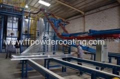 Vertical powder coating plant