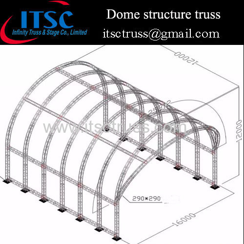 Tunnel roof truss system