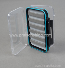 Fly Fishing box with slit foam Fishing tackle box