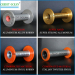 Aluminium alloy bobbin for covering machine