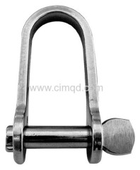FLAT DEE SHACKLE AISI316