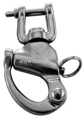 AISI316 JAW SWIVEL SNAP SHACKLES