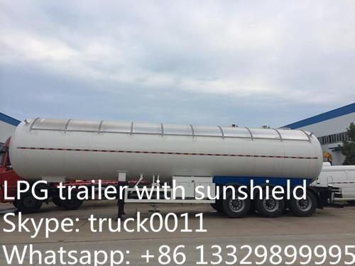 bulk lpg gas propane tank trailer with sunshield for sale