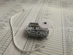 PULL STRING MINIATURE MUSIC BOX MECHANISM