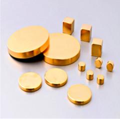 Disc round blok nikkel oppervlak gesinterde Neodymium NdFeB magneten N52