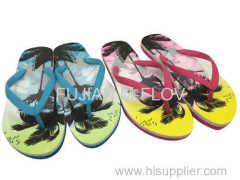 2016 pvc strap flip flops/men beach slippers
