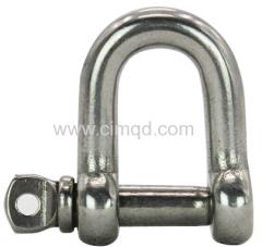 Captive pin shackle