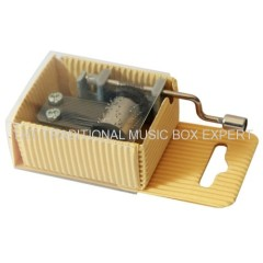 Printed Package Crank Operated Music Box