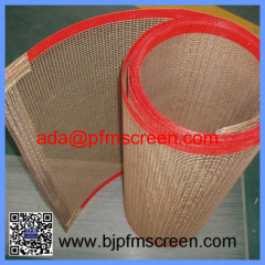 teflon fiberglass open mesh belt