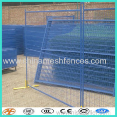 6 feet square tube PVC coated temporary fence connector with