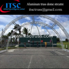 Aluminum truss dome structure in Trinida & Tobago