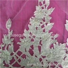 W9030 French White Guipure Lace Fabric (W9030)