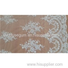 Online Shop Wedding Lace Fabric White (W9010)