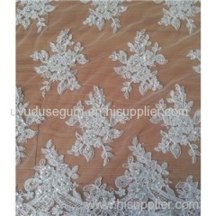 130cm Polyester Wedding Dress Lace Fabric (W9006)