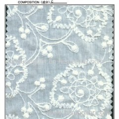 Beautiful Cotton Embroidered Lace Fabric (S8038)