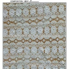African White Cord Embroidery Lace Fabrics (S8123)