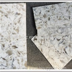 Cut To Size White Artificial Engineered Quartz Stone Tile
