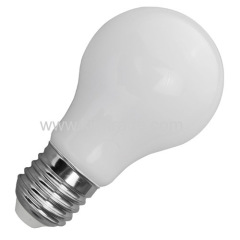 LED A60 6W glass bulb 550lm 360° angle
