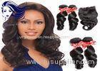 Peruvian Remy Double Weft Hair Extensions Tangle Free For Short Hair