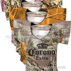 Realtree Camo Jersey Shirt Can Coolers