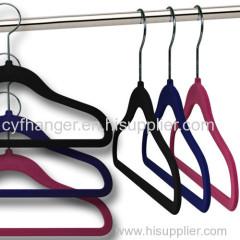 45CM ABS plastic velvet Adult suit hanger non-slip made in China