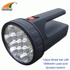 13pcs straw hat LED portable lantern dynamo rechargeable flood light outdoor lantern dynamo rechargeable lantern