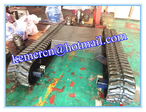 5 ton rubber track undercarriage / rubber crawler undercarriage