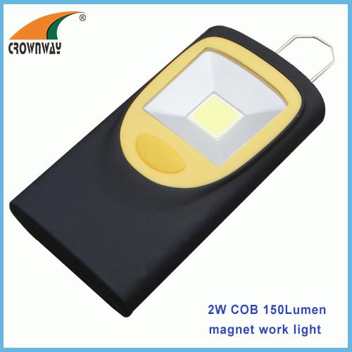 2W COB hook and magnet work light 150Lumen high power lamp 3*AAA outdoor camping lamps magent repairing lamp
