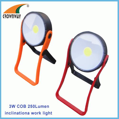 3W COB working light magnet and stand outdoor lamp 3*AAA battery work light 250Lumen high power camping lantern