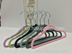 30CM ABS Plastic flocked non-slip baby hanger Made in China