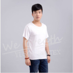 Apparel & Fashion T-shirts YUSON Bamboo Solid Color T-shirt Crew Neck Short Sleeve For Men