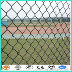 PVC coated golf boundary chain link fence cyclone fence