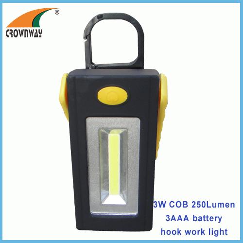 : COB working light magnet and hook working lamp COB high power 3AAA repairing lamp emergency light outdoor camping ligh
