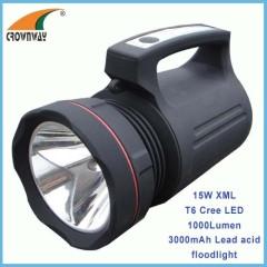 15W XML T6 Cree Led 1200Lumen flood light 18650 rechargeable LED portable lantern recahrgeable spotlight