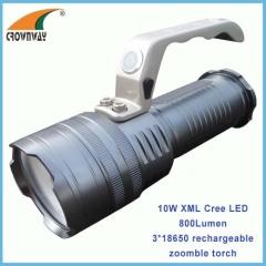 10W Cree XML T6 LED Portable Lantern 3*18650 3.7V rechargeable aluminum body 800Lumen brightness anodized body finish