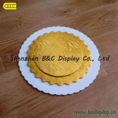 Round shape with flower shaped edged FDA cake boards