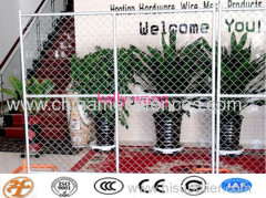Haotian galvanized construction chain link mesh temporary fence factory