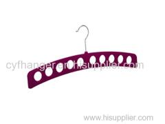 Factory made 43.5cm length with 10 holes platic dark red velvet scarf hanger