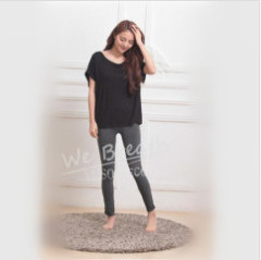 Apparel & Fashion T-shirt YUSON Women's Bamboo Summer Casual Loose T-shirt Tees Blouse Top Short Sleeves Round