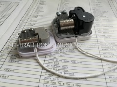 Cord Pulley Miniature Music Box Mechanism